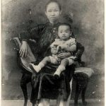 Prof. Trần Văn Khê and his mother when he was 2 years old